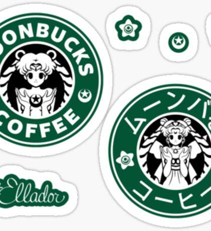 Moonbucks Coffee Mini Sticker Pack Sticker