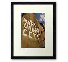 Banksy - One Nation Under CCTV Framed Print