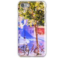 Mini-Streets: Double Bicycles iPhone Case/Skin