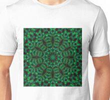 StainedGlass Forest Clockface Unisex T-Shirt