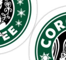 Frozen and Coronian Coffee Mini Sticker Pack Sticker