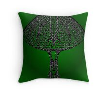 tribal mushroom Throw Pillow