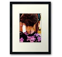 KISS my ANKH! Framed Print