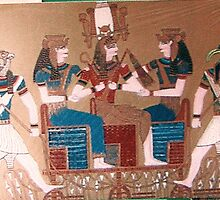 Thot, Isis, Osiris, Nephys, Horus by wave