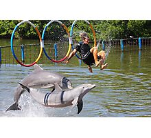 Dolphin Shows whats your view ? Photographic Print