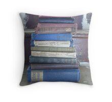 book stack Throw Pillow