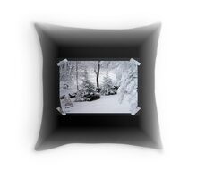 It's a Marshmallow World in the Winter Throw Pillow