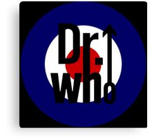 Doctor Who / The Who spoof w/ black background Canvas Print