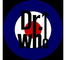 Doctor Who / The Who spoof w/ black background Photographic Print