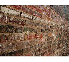 Bricks in Horizontal fade Photographic Print