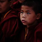 Young Nepali Monks by Phil Gribbon