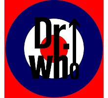 Doctor Who / The Who spoof w/ red background Photographic Print