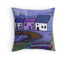 A fishing village Throw Pillow