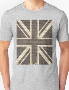 Vintage Britain Flag Burlap Rustic Jute T-Shirt