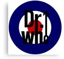 Doctor Who / The Who spoof w/ white background Canvas Print