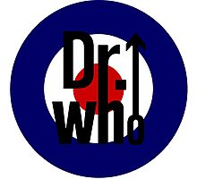 Doctor Who / The Who spoof w/ white background Photographic Print