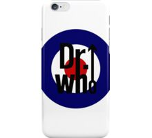 Doctor Who / The Who spoof w/ white background iPhone Case/Skin