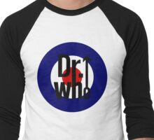 Doctor Who / The Who spoof w/ white background Men's Baseball ¾ T-Shirt