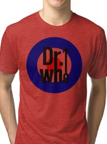 Doctor Who / The Who spoof w/ white background Tri-blend T-Shirt