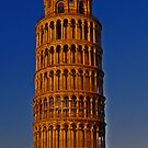 Tower of Pisa at Sunset by Rebecca Silverman