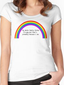 My Family Thinks I'm Gay Women's Fitted Scoop T-Shirt