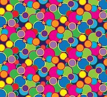 Circle Rainbow Bubble Pop Design Motif by goodedesign