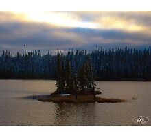 Remote Island in Northern Ontario Photographic Print