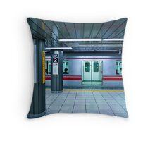 Tokyo Subway Throw Pillow