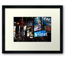 Time Square fandango Framed Print