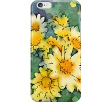 Yellow Daisies Digital Watercolor iPhone Case/Skin