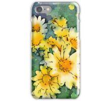 Yellow Daisies Digital Watercolor iPhone Case/Skin