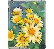 Yellow Daisies Digital Watercolor iPad Case/Skin