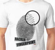 Hacker fingerprint Unisex T-Shirt