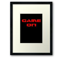 Game Over - Game On - Computer T-Shirt Framed Print