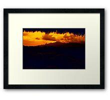Gunung Kelatakan Framed Print