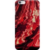Shades of Red and Black Blending Together Flowing Rippled Motion iPhone Case/Skin