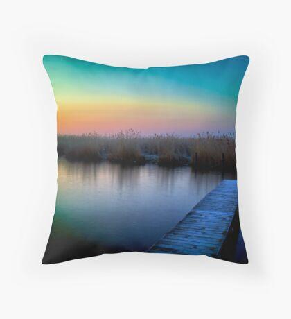 Mysterious morning Throw Pillow