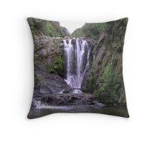 Piroa Falls, Waipu Gorge NZ Throw Pillow