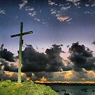 SOLIDOR CROSS AT NIGHT by Karo  Evans