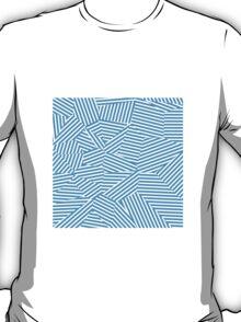 Shattered Glacial Polygons - Voronoi Stripes T-Shirt