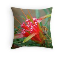 Bee and Mountain Devil # 2 Throw Pillow