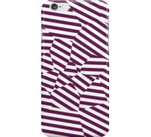 Mulberry Strip - Voronoi Stripes iPhone Case/Skin