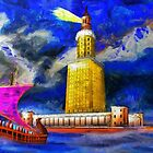 Pharos One of the Seven Wonders of the Ancient World - all products bar duvet by Dennis Melling
