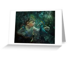 Guardian of the Forest: 100 Eyes Greeting Card