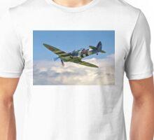 Spitfire T.9 MJ627/9G-P G-BSMB departing Unisex T-Shirt