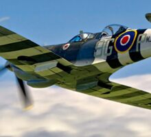 Spitfire T.9 MJ627/9G-P G-BSMB departing Sticker