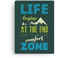Vintage Life Inspirational Quote Typography Print  Canvas Print