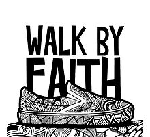 Walk by Faith Zenart - Black by Tangldltd