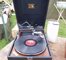 Vintage Record Player by Malcolm Snook