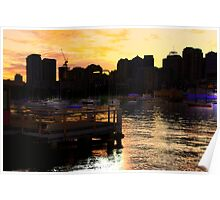 Landing  - Moods Of A City # 8 - The HDR Series - Sydney Harbour, Sydney Australia Poster